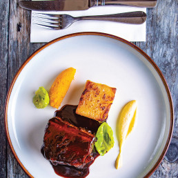 Slow-cooked short rib and salt-baked celeriac by the Red Lion, Shepperton