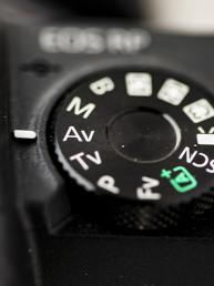 DSLR controls close up